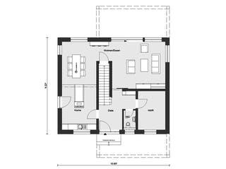 E 20-156.5 - SCHÖNER WOHNEN-Haus von SchwörerHaus Grundriss 1