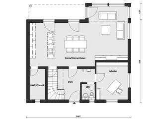 E 20-159.5 - Haus Kubus von SchwörerHaus Grundriss 1