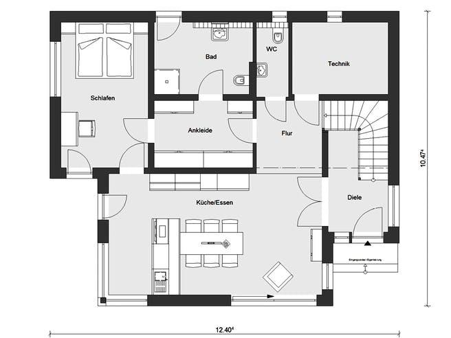 E 20-189.3 - Kubushaus von SchwörerHaus Grundriss 1