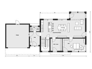E 20-198.1 - Einfamilienhaus mit Z-Dach von SchwörerHaus Grundriss 1