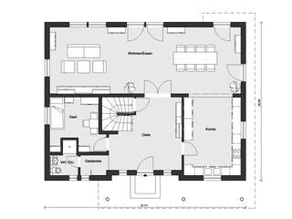 E 20-204.1 - Mediterrane Stadtvilla von SchwörerHaus Grundriss 1