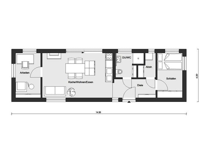 F 10-049.10 - Minihaus von SchwörerHaus Grundriss 1