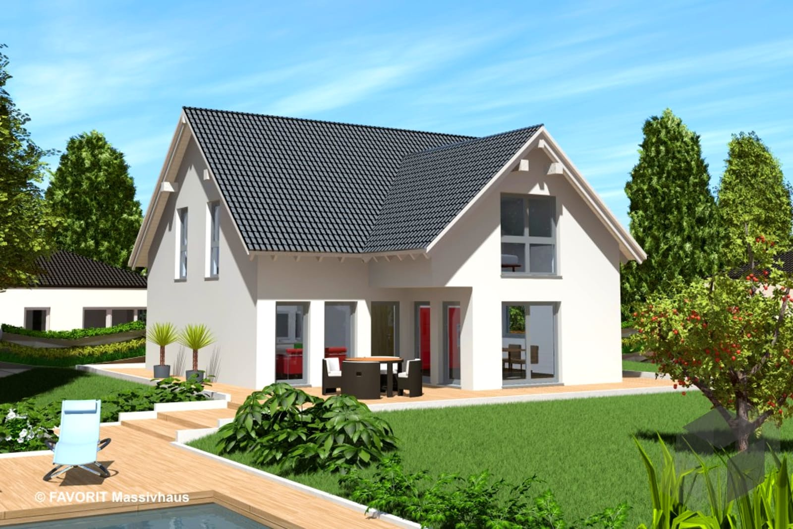 select 168 von favorit massivhaus komplette daten bersicht. Black Bedroom Furniture Sets. Home Design Ideas