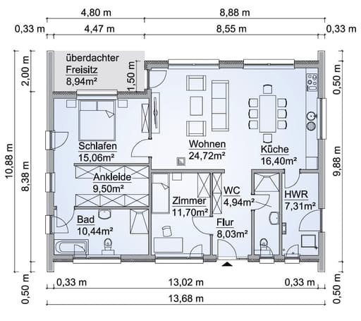 SH 117 B Var. B Floorplan 1