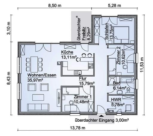 SH 122 WB Var. A Floorplan 1