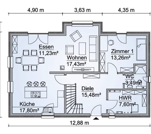 Sh 160 var d von scanhaus marlow komplette for Floor plans for 160 000