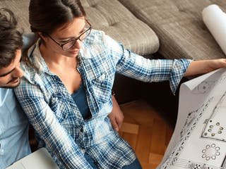 Hausbau mit einem Architekten