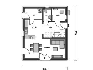 Alto 300 von Hausbau Düren Grundriss 1
