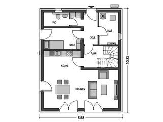 Alto 520 von Hausbau Düren Grundriss 1