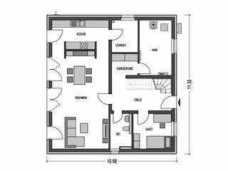 Alto F11 von Hausbau Düren Grundriss 1