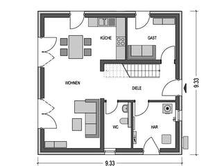 Arcus 130 von Hausbau Düren Grundriss 1
