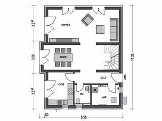 Calvus 530 von Hausbau Düren Grundriss 1