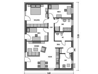Cumulus 760 von Hausbau Düren Grundriss 1