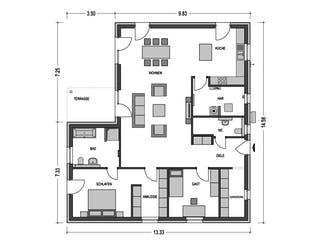 Cumulus 770 von Hausbau Düren Grundriss 1