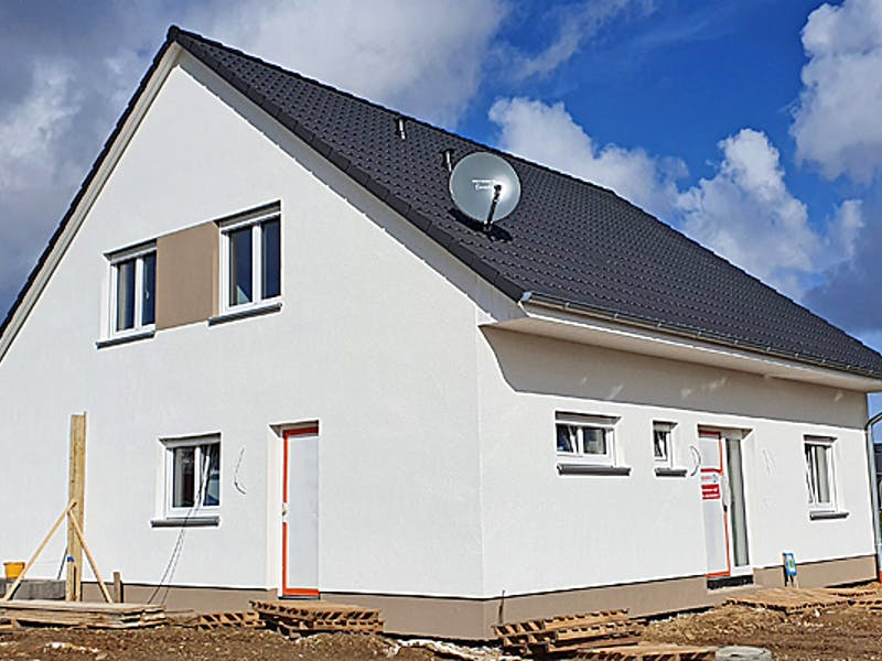 Baustelle Satteldachhaus von Hausbau Düren