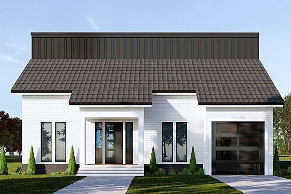 Weißes Einfamilienhaus von SmartHome Designhaus