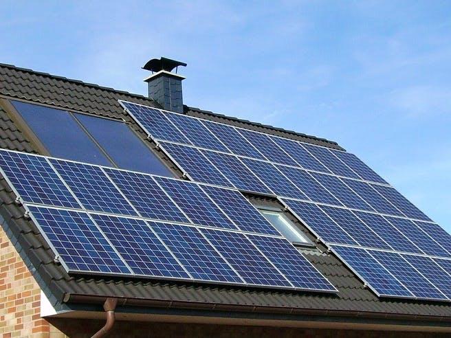 Solaranlage auf dem Hausdach