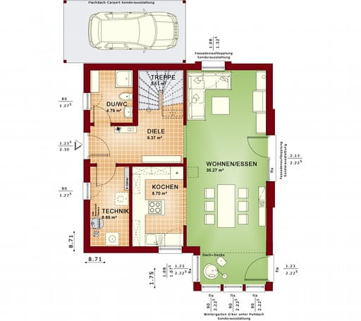 Solution 125 v6 v7 von living haus komplette for Floor plans for 160 000