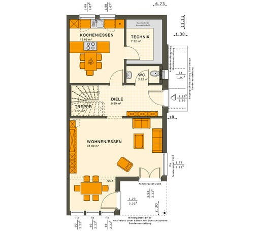 Solution 126 XL V6 Floorplan 1