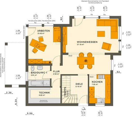 Solution 151 V9 Floorplan 1