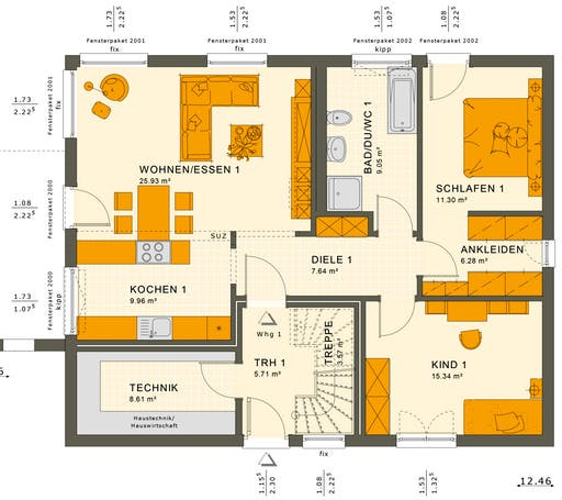 Solution 204 V2-V3 Floorplan 1