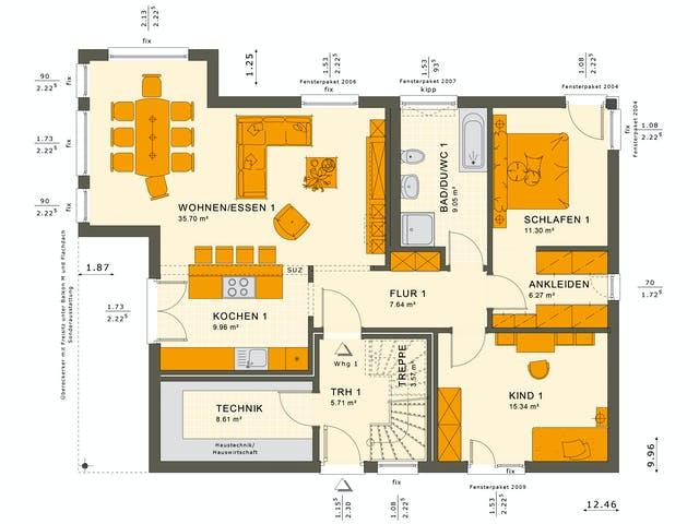 Erdgeschoss Zweifamilienhaus von Living Haus