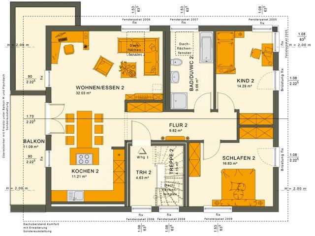 Obergeschoss Zweifamilienhaus von Living Haus