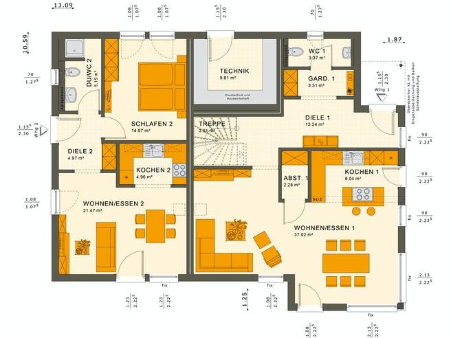 Solution 230 V2-V3 Floorplan 1