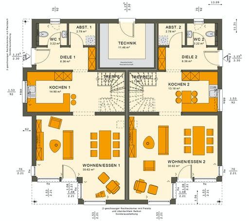 Living Haus - SOLUTION 242 V7 Floorplan 1