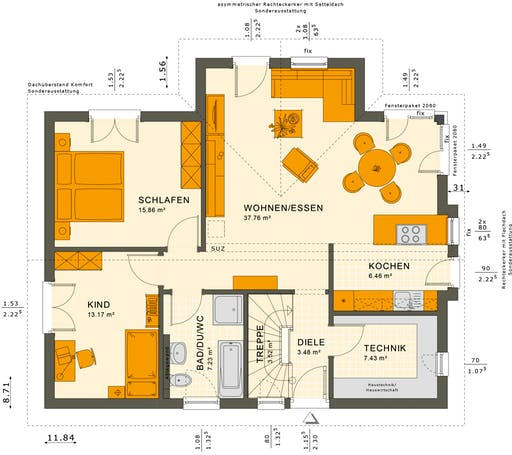 Solution 87 V2-V3 Floorplan 1
