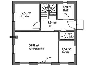 Bauhaus BHS 122 Grundriss