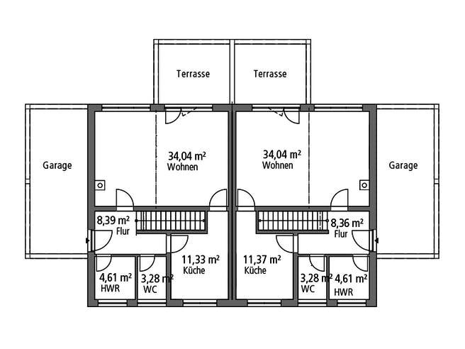SR System - Doppelhaus DHH 119 Floorplan 1