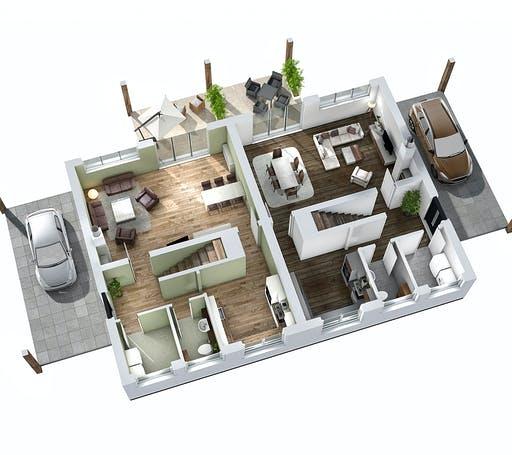 SR System - Doppelhaus DHH 119 Floorplan 3