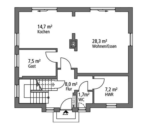 SR System - Einfamilienhaus EFH 124 Floorplan 1