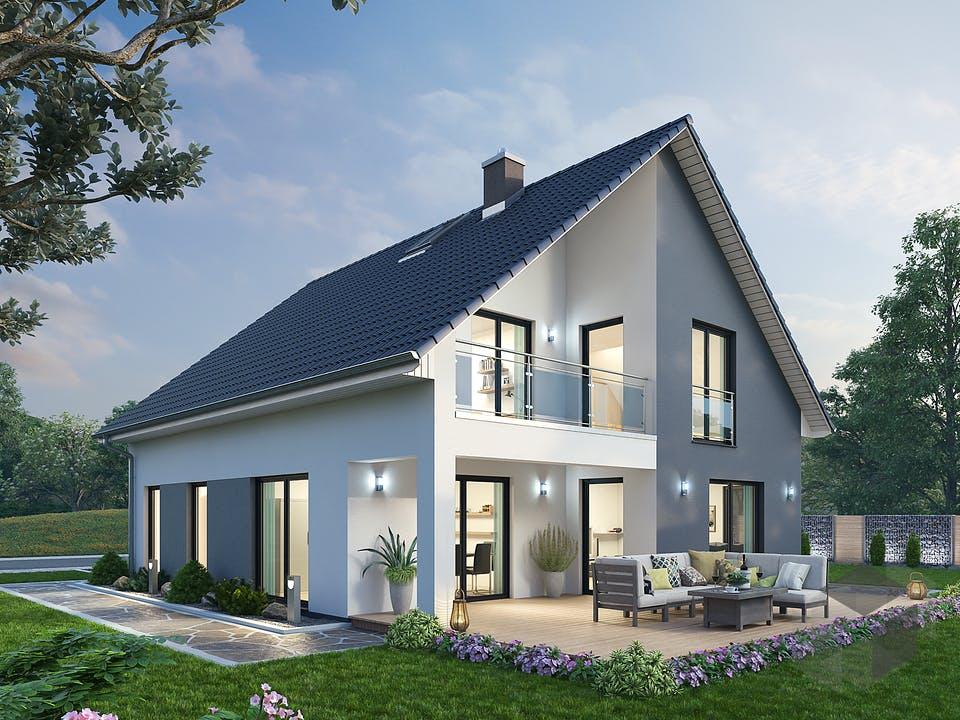 Einfamilienhaus EFH 147 von SR System Außenansicht