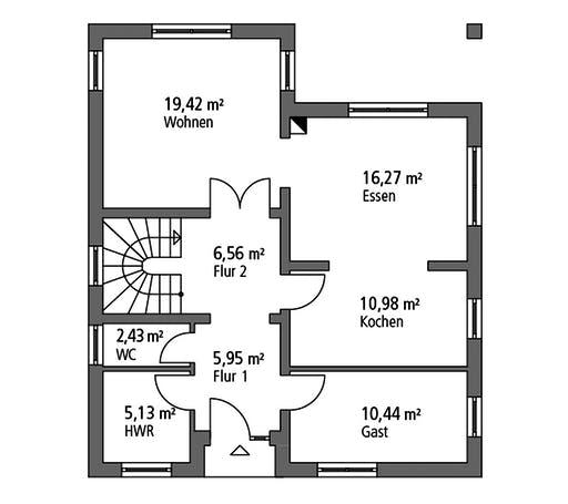 SR System - Einfamilienhaus EFH 147 Floorplan 1