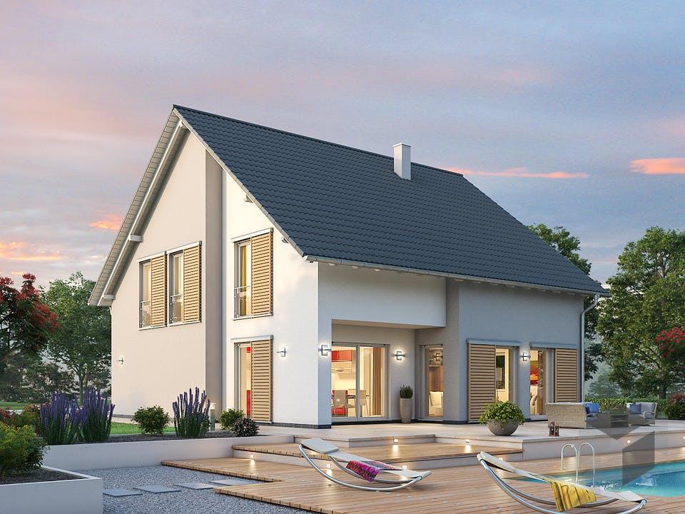 Einfamilienhaus EFH 173 von SR System Außenansicht