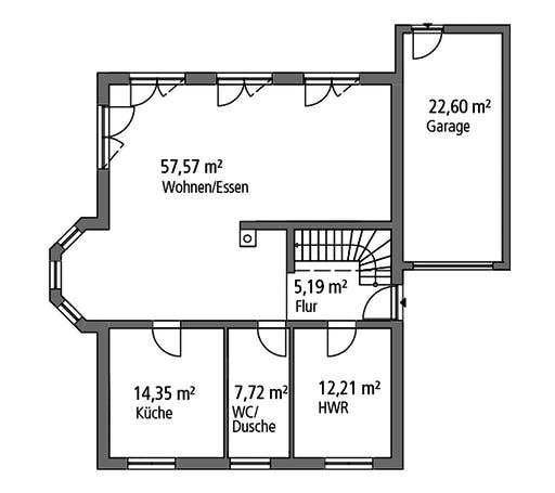 SR System - Einfamilienhaus EFH 190 Floorplan 1
