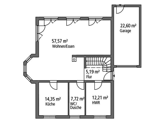 Einfamilienhaus EFH 190 von SR System Grundriss 1