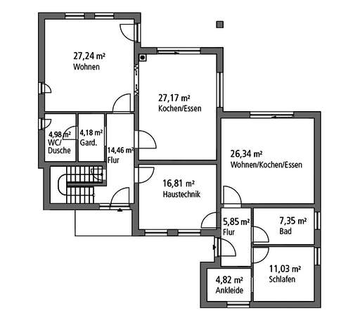SR System - Mehrgenerationenhaus MGH 232 Floorplan 1