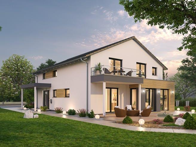 Zweifamilienhaus ZFH 244 von SR System Außenansicht 1
