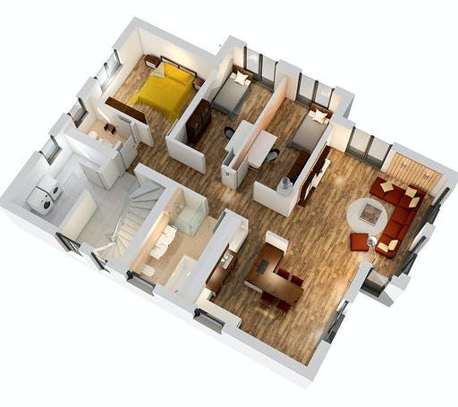 SR System - Zweifamilienhaus ZFH 244 Floorplan 3