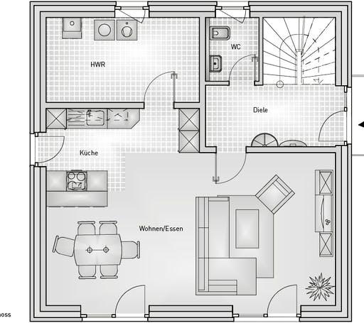 Stadthaus 22.32 EFH Floorplan 1
