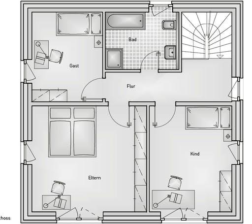 Stadthaus 22.32 EFH Floorplan 2