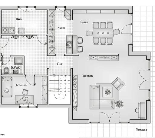 Stadthaus 22.69 EFH Floorplan 1