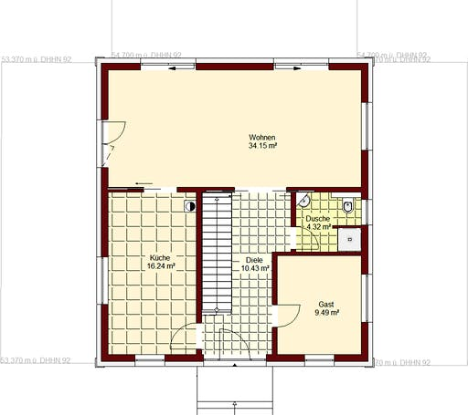 Stadtvilla Berlin Floorplan 1