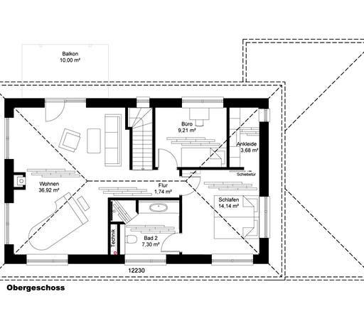 Stadtvilla Borgstedt mit Carport Floorplan 2