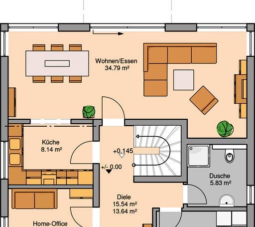 Stadtvilla Centro Floorplan 1