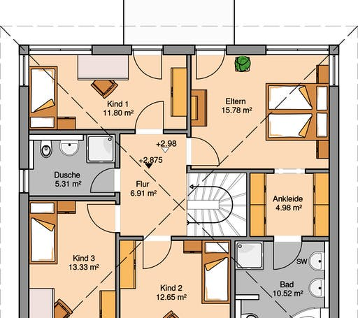 Stadtvilla Centro Floorplan 2
