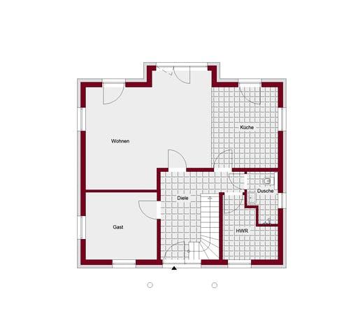 Stadtvilla Mailand Floorplan 1